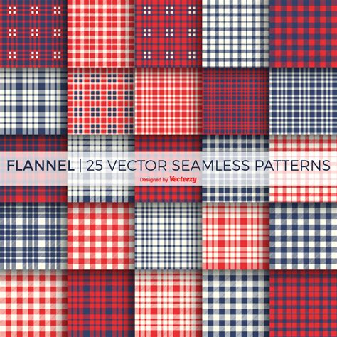Free Flannel Pattern Vector Pack by Vecteezy