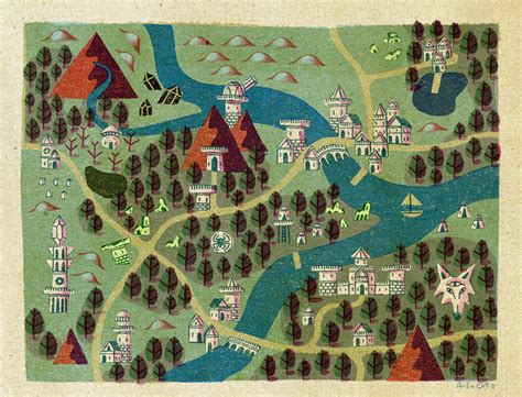 These wonderful fantasy maps show a perfect balance