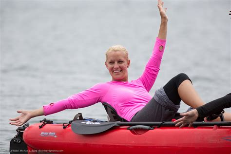 File:Two ladies, female kayakers, were in a red Mirage
